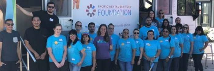 Pacific Dental Services volunteers on-campus