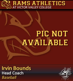 Baseball Head Coach - Irvin Bounds - Pic Not Available