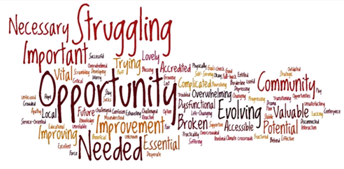 Community perceptions word cloud
