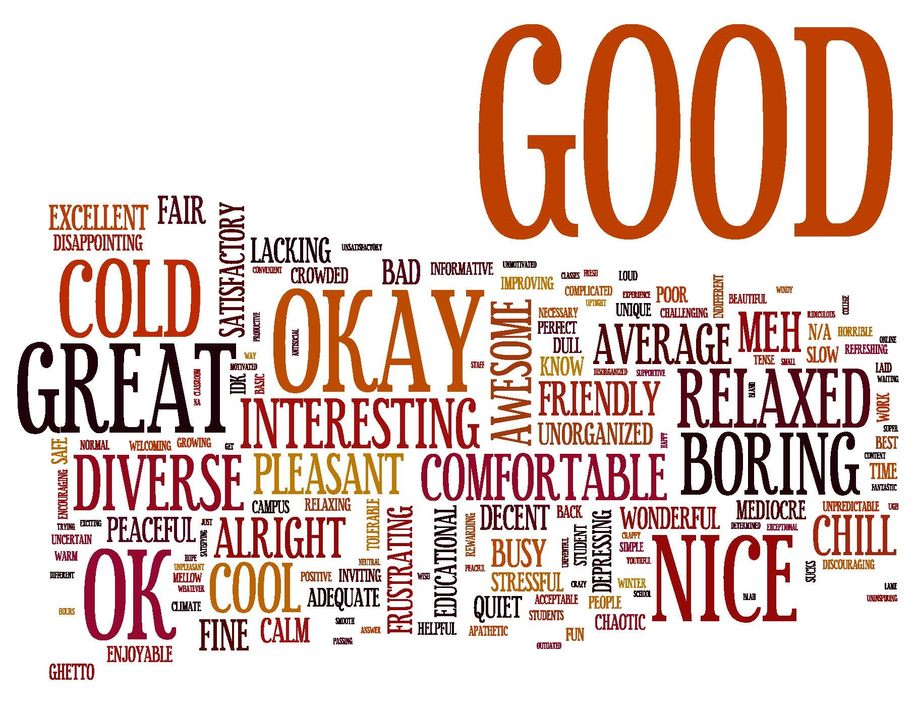 Student perceptions word cloud