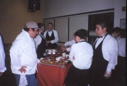 2000 Gourmet Dinner and Evening at the Oscars, setting up desserts - photo