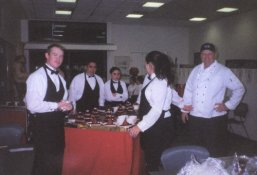 2000 Gourmet Dinner - photo of staff