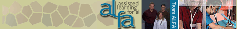 ALFA - Assisted Learning For All - banner image