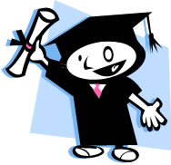image of happy graduate - comic, cartoon