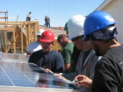 VVC Students with a photovoltaic system